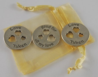 Set of 3 All My Love Pocket Pieces with Organza Bag