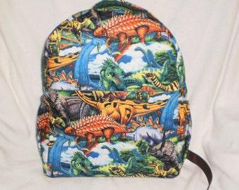 Child's dinosaur backpack