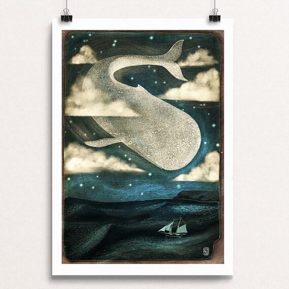 Sky Whale I - Signed Print