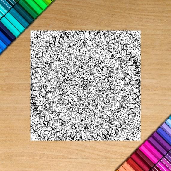 MANDALA card - Coloring f...