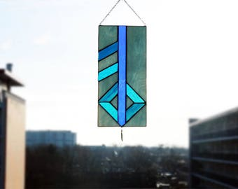 Blue Love Rune Suncatcher