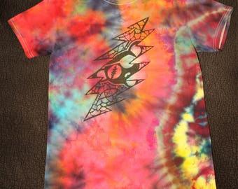 13-Point Bolt/ Pirate Bear Grateful Dead Shirt TieDye (S)