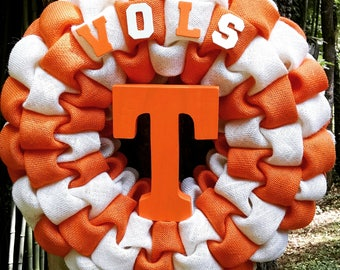 Tennessee Vols Burlap Wreath