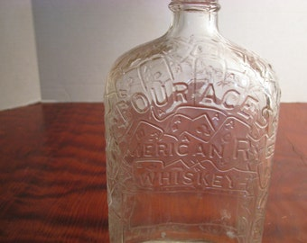 Vintage Four Aces American Rye Whisky Bottle