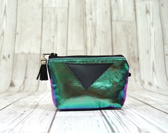 Holographic coin pouch, Friend stocking stuffer under 10, Holographic gift, Holographic coin purse, Holographic coin wallet Holographic