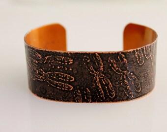 Etched Chromosome Copper Cuff