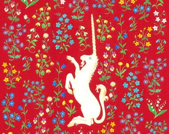 Unicorn 8x8 Printable Art, Wall Art, Home Decor, Medieval.  Digital Download