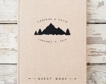 Mountain Wedding Guest Book Wedding Guestbook Custom Guest Book Personalized wedding book wedding sign in book rustic guestbook wedding gift