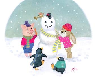 Let's Build A Snowman! card