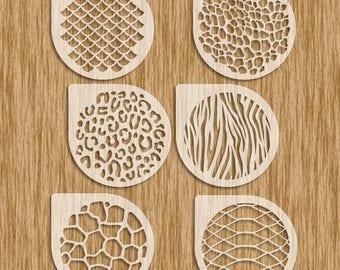 """Animal Patterns Sampler / 6 Piece (4"""" diameter) Cookie Set Stencils - Sku APC0100"""