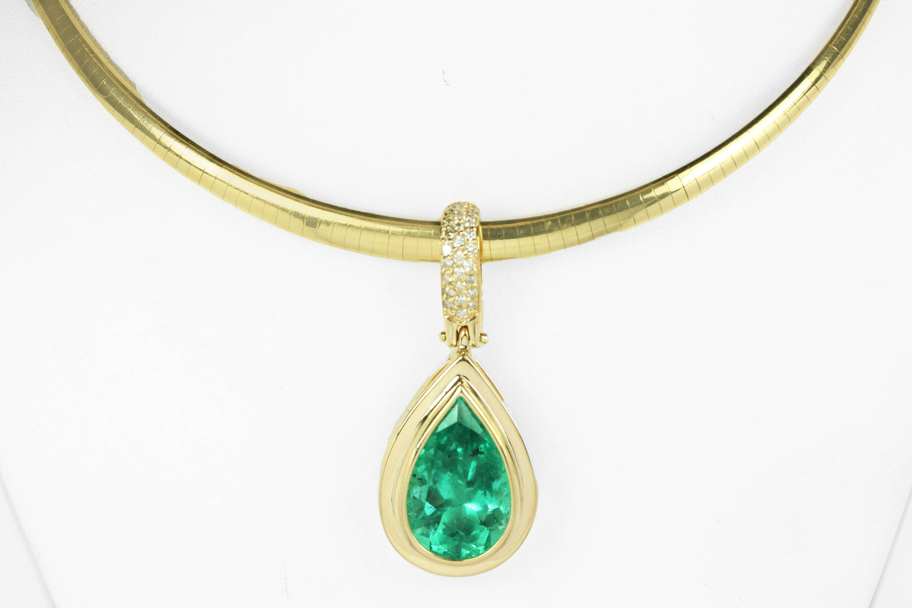 carat emerald wg stone pendant catalog necklace diamond