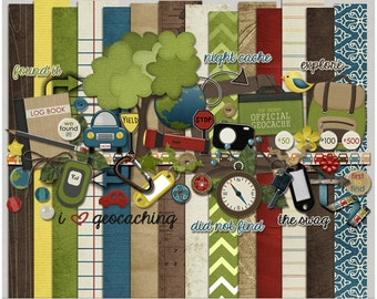 Cache Ya Later Kit - Paper & Elements for Digital Scrapbooking