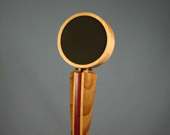 Chalkboard Beer Tap Handle - Made to Order from Solid Tan Oak, Rock Maple and Purpleheart