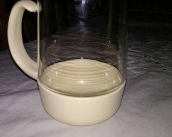 McDonald's Glass Mug with Plastic Base and Handle
