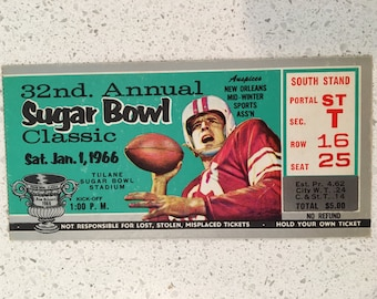 Sugar Bowl ticket stub - 1966