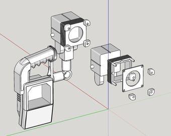USCM TNR Shoulder Lamp from Aliens 3D Print Files V1