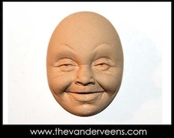 Mold No.28 (Older Face-Open eyes) by Veronica Jeong