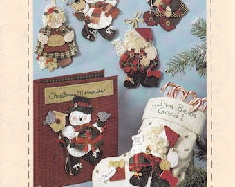 FREE US SHIP Craft Sewing Pattern Christmas Luv 'N Stuff Peppermint Giggles No Sew Jolly Ornaments Mrs Santa Snowman Elf94 Uncut