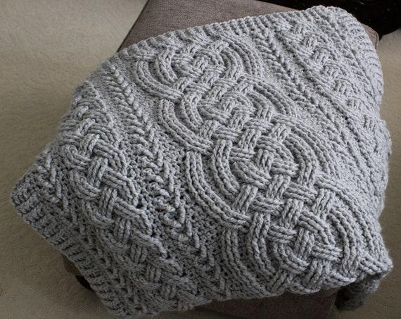 Crochet Blanket Pattern Irish Lullaby Cable Braided Blanket Crochet
