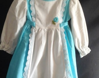 Little girls trimmed dress