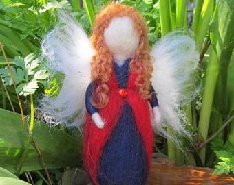 Needle Felted Waldorf inspired Fairy 'Poppy'