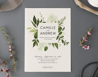 Leaf wedding invite etsy woodland wedding invitation setprintable forest wedding suitenature weddingoutdoor wedding invites stopboris Image collections