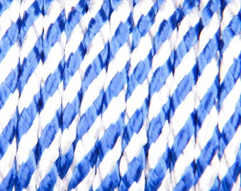 5 meters of white and blue 3mm polyester cord