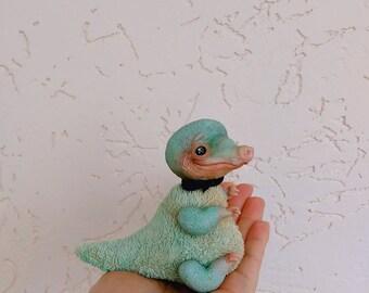 Little cute mint baby crocodile doll