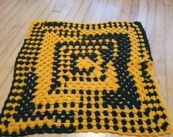 Crochet Packer granny square blanket