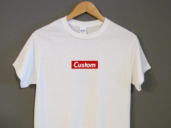 Well known Custom Supreme Red Box Logo T-Shirt Hype Big Sean Tumblr XM33