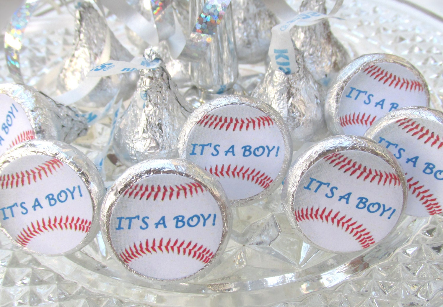 Baseball Sports Baby Shower Its A Boy Party Favors Stickers Hershey ...