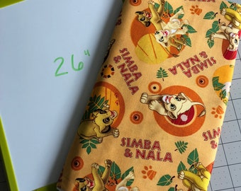 "REMNANT 26"" Lion King Simba Nala Cotton Woven fabric sewing quilting"
