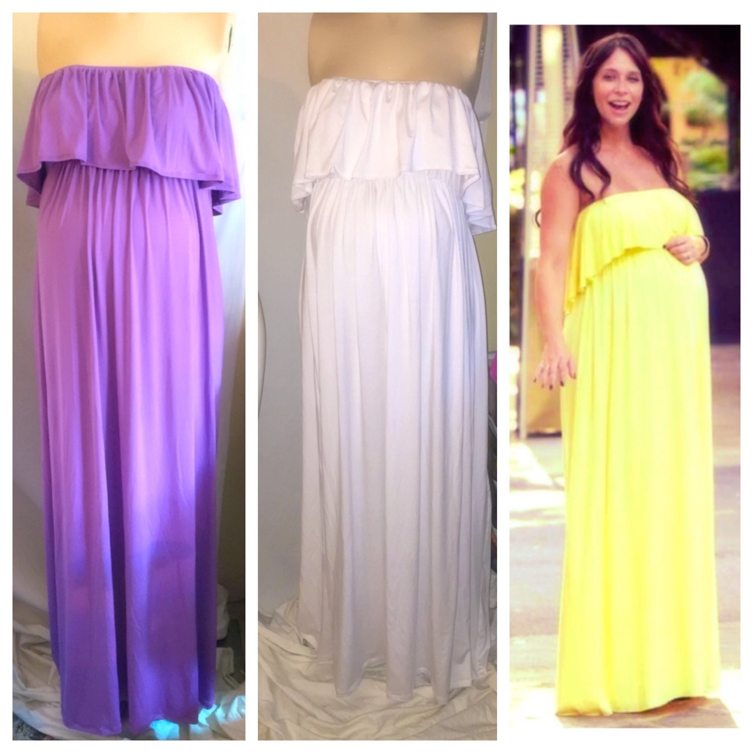 Strapless ruffled top maternity maxi dress maternity dress zoom ombrellifo Images
