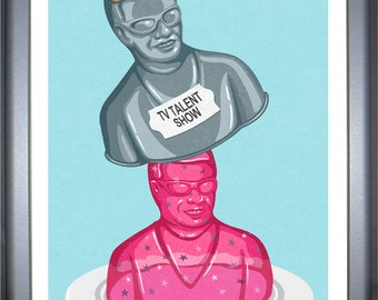 Celebrity Jelly: signed limited edition, colouful, conceptual,  illustration print