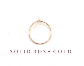 thin solid ROSE GOLD nose ring, thin rose gold nose hoop, rose gold nose ring, thin nose hoop, thin nose ring, 26g nose hoop