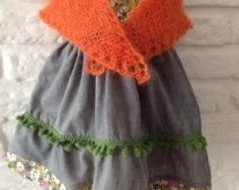 """Beautiful dress, stolla and pants for 18"""" - 19"""" Waldorf Doll"""