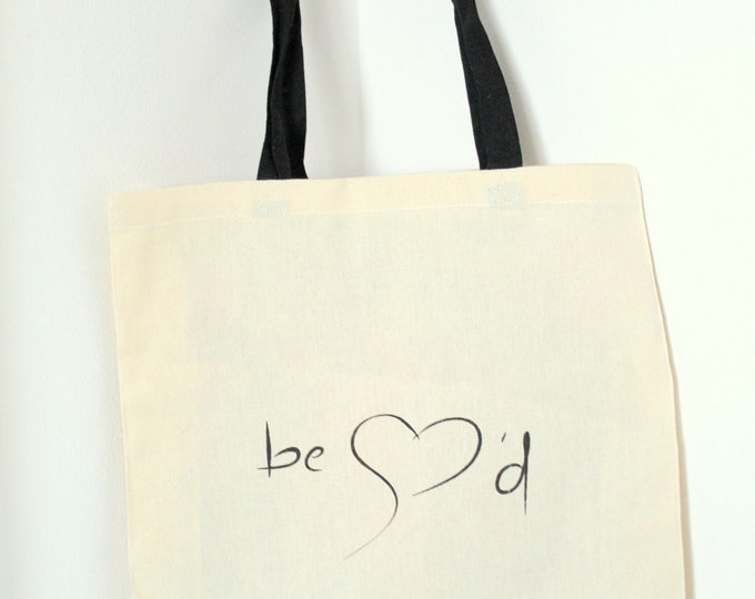 Be Loved by - Large Tote bag. 100% jute.