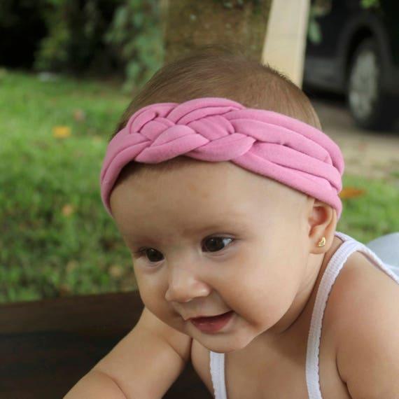 Pink Headband, Pink Knot Headband, Infant Headbands, Celtic Knot Headband, Hair Wrap, Baby Headband, Newborn Headband, Baby Head Wrap