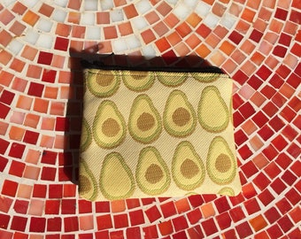 Avocado Small Card Holder, Zipper Pouch