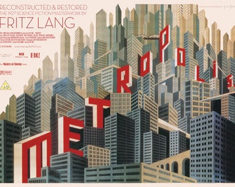 Metropolis Cult Silent Film Movie Poster Print Fritz Lang Retro Vintage A1 A2 A3 A4