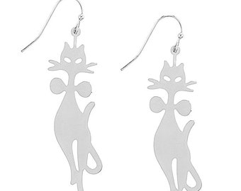 Meow Kitty Kat Drop Earring