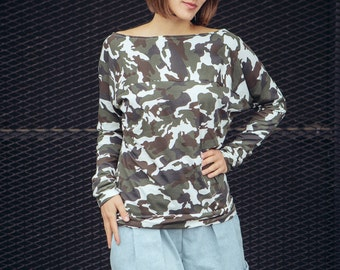 Sale shirt ' Camou ' camouflage jersey Top