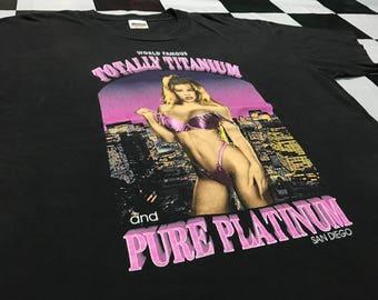 Vintage Totally platinum pure platinum shirt world tour 1995's 2 side printed Size L Excellent condition