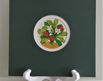 Vintage Small Strawberry Batik Print