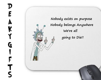 Rick and Morty fabric PC Mouse mat/ Mouse pad