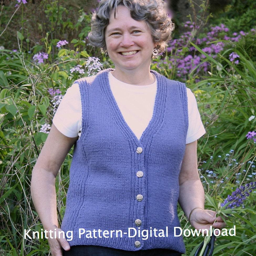 Vest Knitting PATTERN PDF, Knitted Vest Pattern, Seamless vest ...