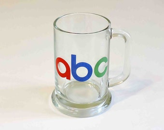 ABC Studios Los Angeles Vintage Beer Coffee Beverage Glass