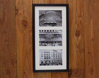 Iconic American Ballparks in the 1940's - Framed Vintage Sports Hall Hanging