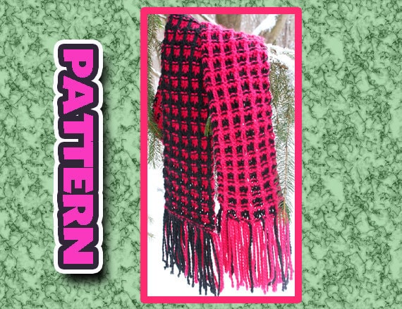 Pdf Two Color Knit Scarf Pattern Quick Knit Super Soft Easy