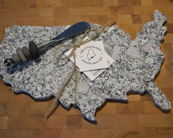USA Granite Cheeseboard - United States of America Cheese Tray